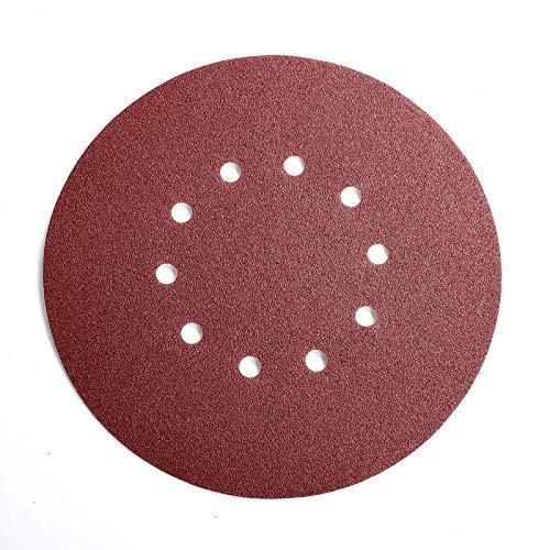 225mm Schleifscheiben, 25 Stück Klett Schleifpapier 10-Loch Schleifpads für Trockenbauschleifer Exzenterschleifer 225mm (120 Körnung)