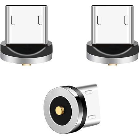 Connettore Magnetico, Lively Life 3 Pacchi Magnetico Micro USB Connettore per Cavo di Ricarica Magnetico Cavo di Carica, Nessun Cavo Argento