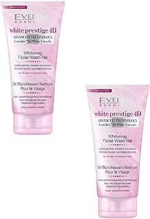 Set of 2 Eveline Cosmetics White Prestige 4D Whitening Facial Wash Gel