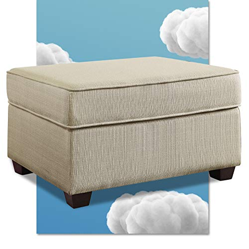 Serta Olin Storage Ottoman, Contemporary Design Hinged Lid, Can Be Used as Footrest or Extra Seat, Easy Assembly, Ivory