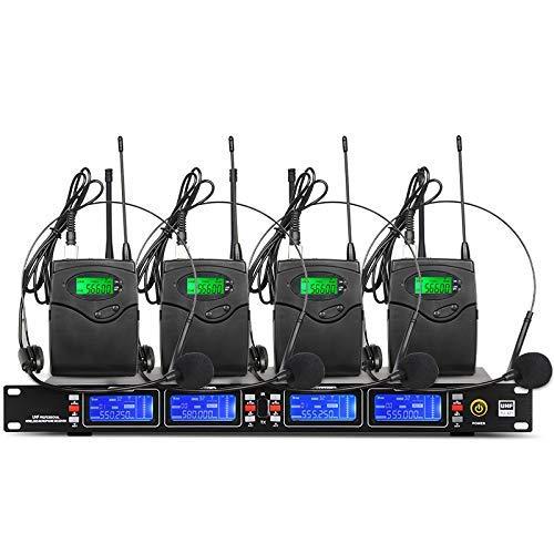 Depusheng Sistema de micrófono inalámbrico UHF Transmisore