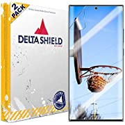 DeltaShield Screen Protector for Samsung Galaxy Note 20 Ultra (6.9 inch) (2-Pack) (Case Friendly Version) BodyArmor Anti-Bubble Military-Grade Clear TPU Film
