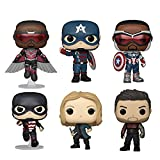 Funko Pop! The Falcon and The Winter Soldier Set of 6: Falcon Flying, John F Walker, Captain America, US Agent, Sharon Carter and Winter Soldier (Zone 73)