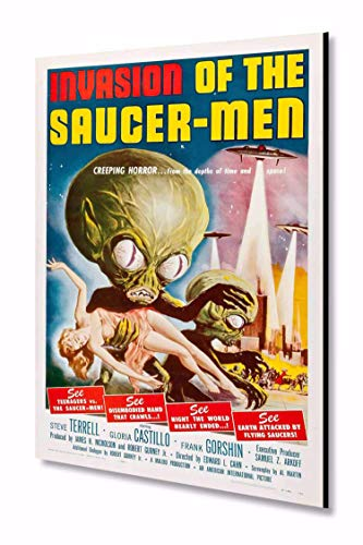 """Invasion of the Saucer Men 1961 Vintage Film Poster Art 