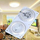 Lámpara magnética de techo LED Doble color Temperatura Tablero de luz Módulo de panel AC220V 12W 24W Hudson Studio (Color : 24W)