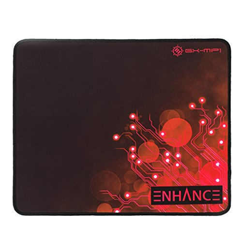 Large Gaming Mouse Pad XL by Enhance - Extended Mouse Mat, Anti-Fray Stitching, Non-Slip Rubber Base, High Precision Tracking for PUBG, League of Legends, & More - Red Ciruit Design