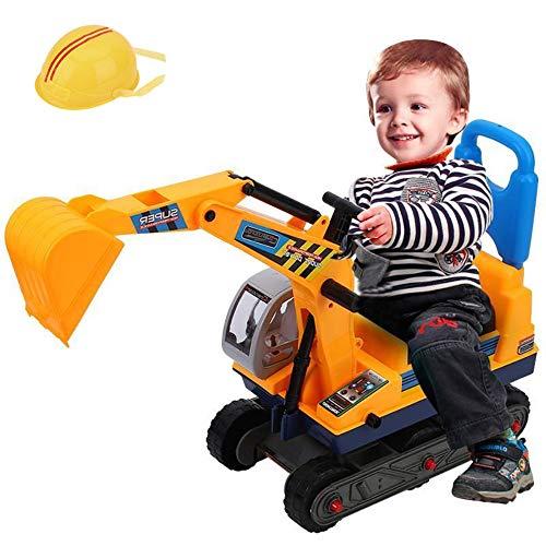 EBTOOLS Escavatore dei Bambini, Escavatore Giocattolo Grande per Bambini Giocando con Casco di Sicurezza con la Sabbia Scavare in Spiaggia o in Casa