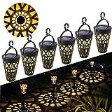 Solarleuchte Garten GolWof LED Solarlampe Gartenleuchte Solarlampen für Draußen Wasserdicht für Veranda Pathway und Hof Weihnachten (6 pack)