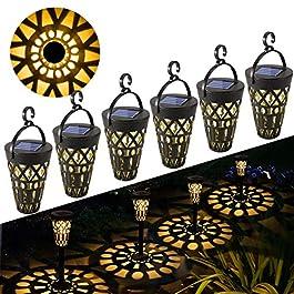 Lampe Solaire Jardin GolWof 6 Pièces Lumière Solaire Extérieure Étanche Éclairage Solaire Extérieur LED Lumière de…