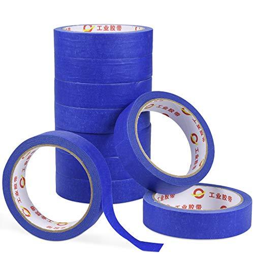 cinta de pintor -10 Rollos No Deja Residuos Cinta de carrocero de uso general - ideal para pintar, hogar, oficina, papelería escolar, arte, manualidades