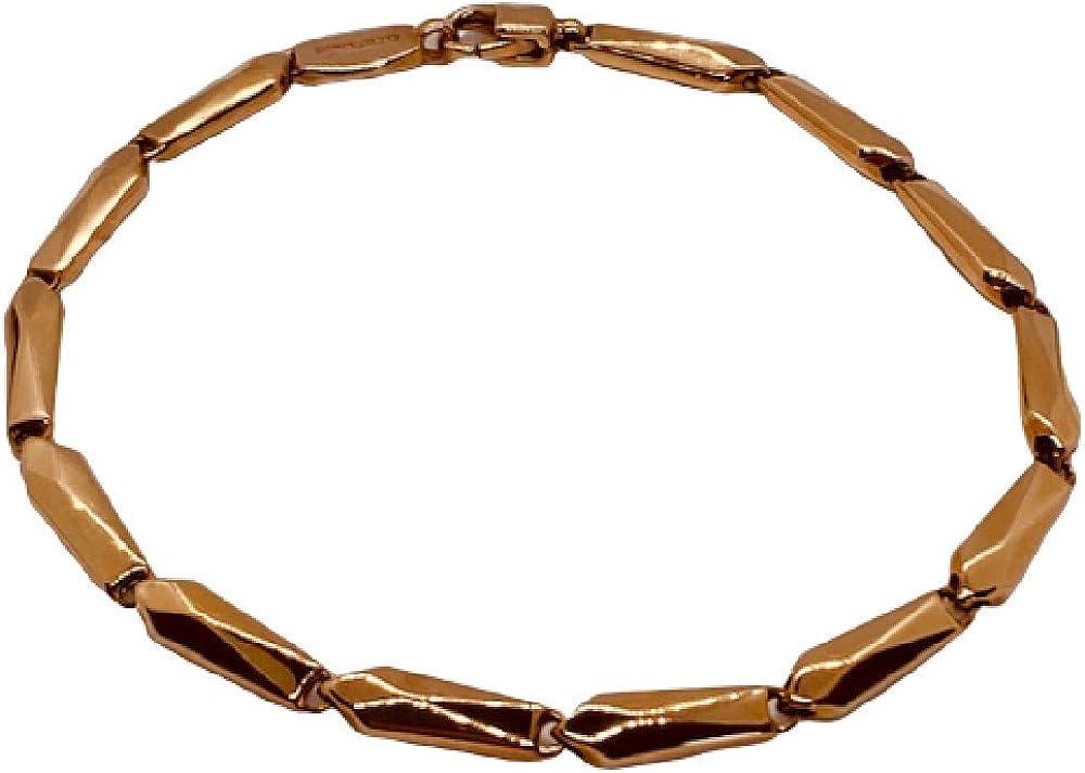 Chimento ,bracciale unisex in oro rosa 18 kt(6,4 gr)della collezione