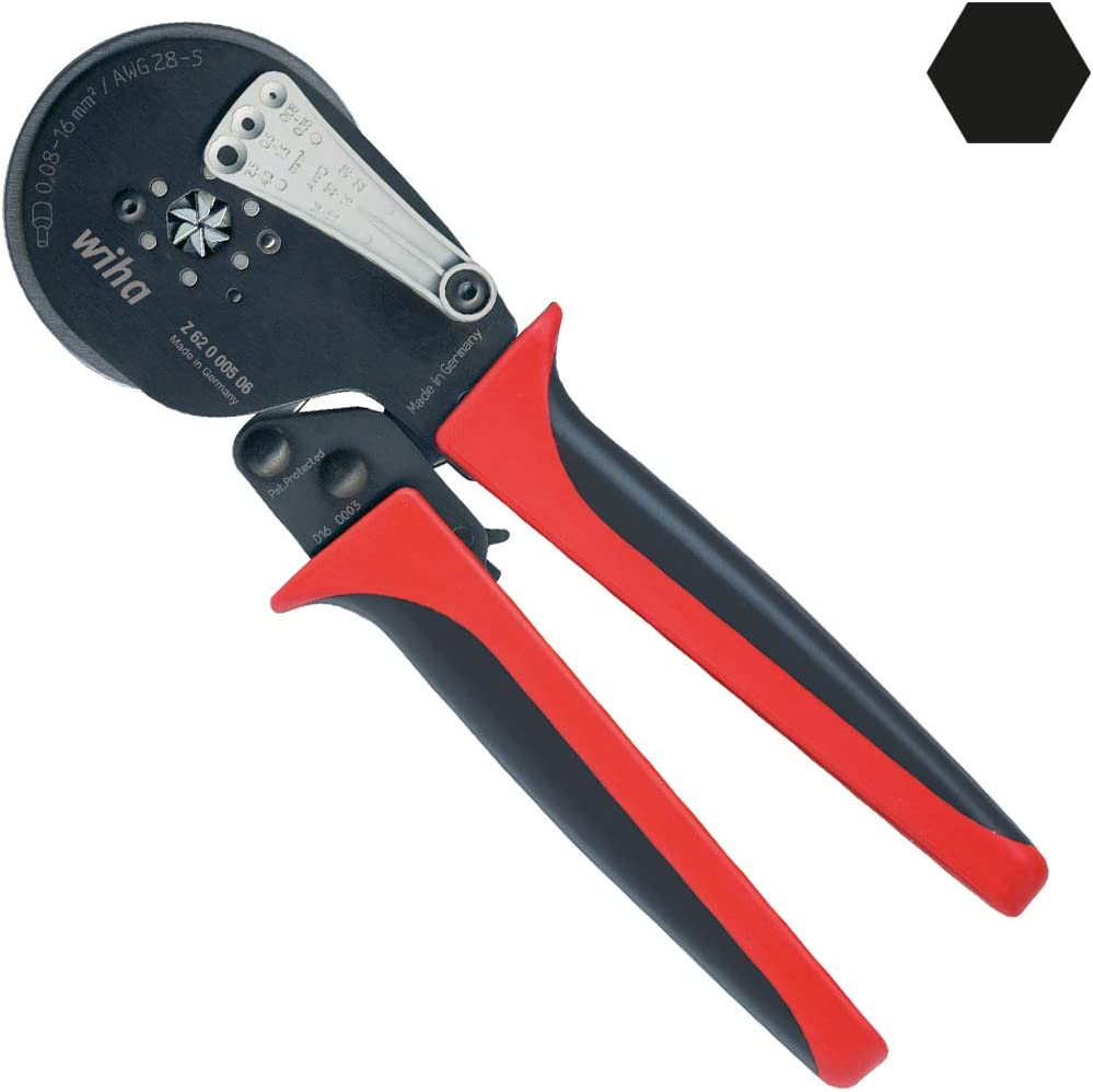 WIHA WIH-41246 Z 62 0 06 Typ 002 Prof. elec Crimpz. isolierte Kontakte, Black, Red, 0.545 kg