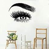 wopiaol Wimpern wandaufkleber Vinyl augenbrauen schönheitssalon wandtattoos Augen Make-up wandkunst Poster Hause Schlafzimmer Dekoration wandmalerei 76x57 cm