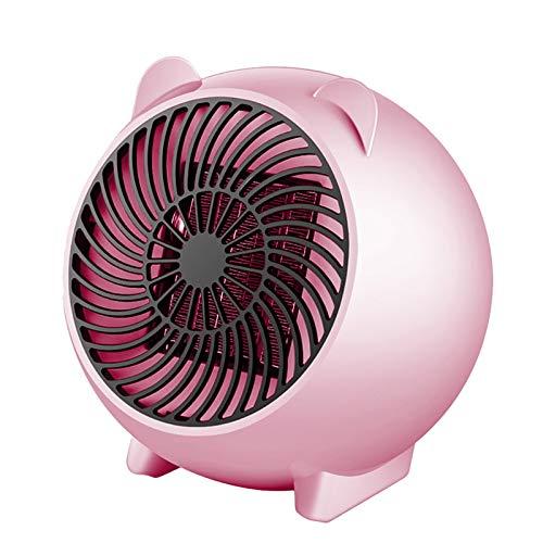 CAPCRD Tragbare Lüfter Heizung Desktop Cartoon Heizung für das Büro Haus Mini Tragbare elektrische Heizung Desktop Heizung Warme Tragbare Mini Fan Heizgeräte (Farbe : Rosa, Size : EU)
