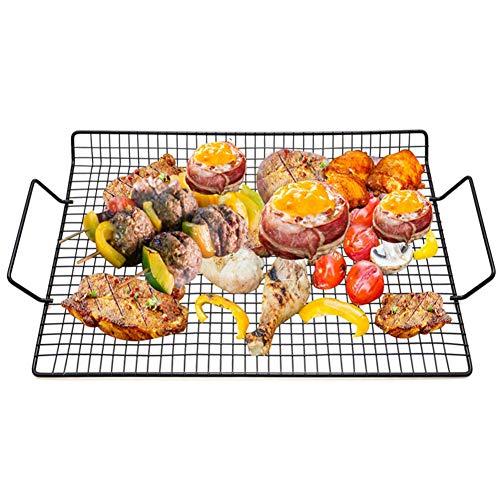 ZMYNB Grill Veggies Korb, Heavy Duty Grilling Korb Gemüse Edelstahl Veggies Grill-Deckel Kochgeschirr Mit Griffen Charcoal Gas Grill Im Freien Kochen