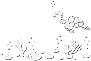 Sea Turtle And Shells Decal Sticker - White 5
