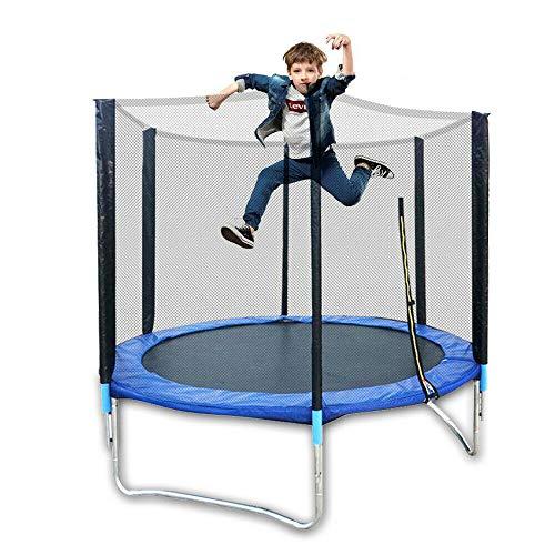 Aohuada 6FT Trampolino Premium con rete di sicurezza Set trampolino da esterno per adulti / bambini con custodia di sicurezza Rete imbottitura a molla da giardino Heavy Duty