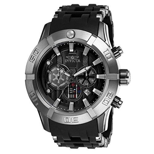 Invicta Star Wars Herren-Armbanduhr Armband Kunststoff Schwarz Quarz 26548
