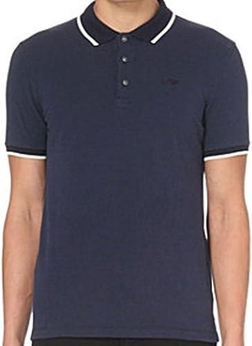Arhommei Jeans Hommes's Navy bleu Regular Fit Polo Shirt