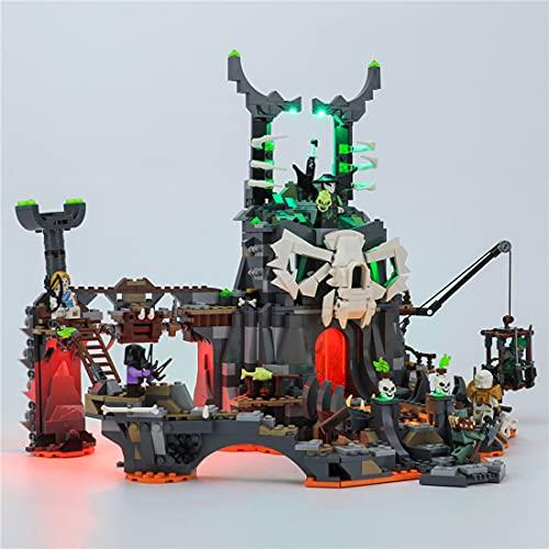 SENG LED Licht Beleuchtungsset für Verlies des Totenkopfmagiers, Kompatibel mit Lego 71722 (Modell Nicht Enthalten)