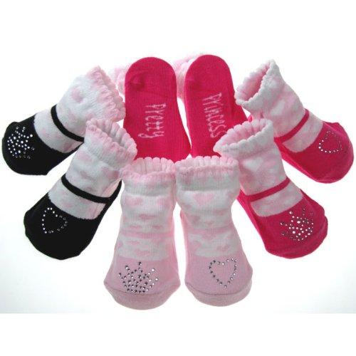 Lot de 3 paires de chaussettes cadeau de princesse