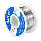 MAIYUM 63-37 Tin Lead Rosin Core Solder Wire for Electrical Soldering (0.6mm 50g)