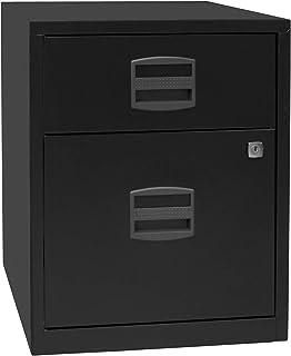 Bisley Caisson mobile hauteur bureau PFA, 1 tiroir, 1 tiroir pour DS, noir | PFAM1S1F633 - Armoire basse Armoire de bureau...