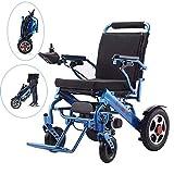 Wheelchair Silla de ruedas, silla de rehabilitación médica para personas mayores, personas mayores, silla de ruedas eléctrica liviana plegable andador de viaje portátil Sillas de ruedas eléctricas co