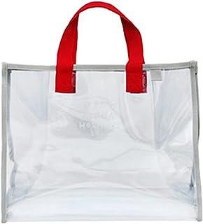 BAOBLADE Clear Tote Bag Bags Handbag PVC Summer Fasion Transparent Beach Bag - Red, as described