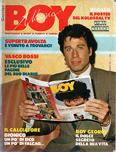 Boy Music 46 novembre 1983 Boy George.Vasco Rossi-Amanda Lear-John Travolta