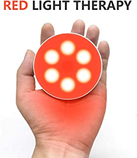 Deep 660nm LED Red Light Therapy for Skin Joint & Muscle Reliever, Improve Skin Texture Stepless Dimming Portable Memory Function and Rechargeable Design