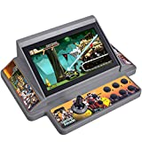 "Mini Arcade Machine,Retro Handheld Game Console with 100+Built in New Arcade Games,7"" Display,4000MAH Rechargeable Battery, Support MAME/TF Card Extension,Present for Kids/Adults"