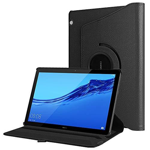 Fintie Hülle für Huawei MediaPad T5 10 - Schlank 360 Grad Rotierend Stand Schutzhülle Cover für Huawei MediaPad T5 10 10.1 Zoll 2018 Modell Tablet PC,Schwarz