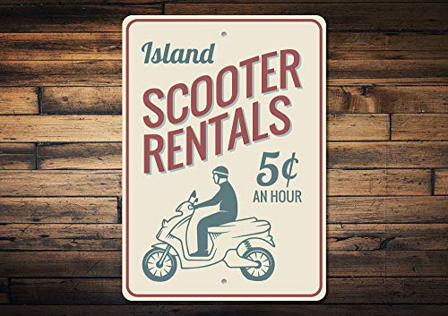 Yilooom Scooter Verhuur Sign, Vakantiewoning Sign, Scooter Decor, Scooter Gift, Scooter Sign, Strand Huis Decor, Kwaliteit Aluminium Scooter Teken Gift