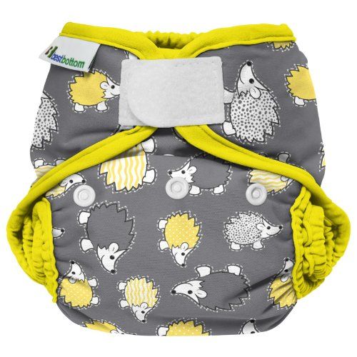 Best Bottom Cloth Diaper Shell - Hook & Loop - Hedgehog