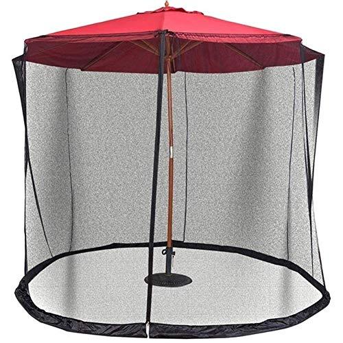 kyman Paraguas de jardín al Aire Libre Su sombrilla en un Gazebo Pantalla de mosquitera de mosquitera de Paraguas con Cremallera para Paraguas Tablas de Patio K888 (Color: 275 cm x 220 cm)