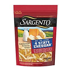 Sargento Foods Chef Blend 4 State Cheddar Shred, 7.5 oz