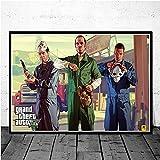 poster e stampa 40x60cm senza cornice videogioco gta 5 grand theft auto wall art picture pittura home decor poster