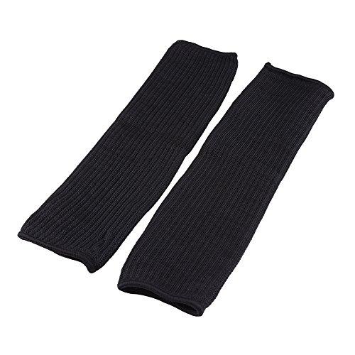 1 par de mangas resistentes al corte de brazo de alambre negro, protección de...
