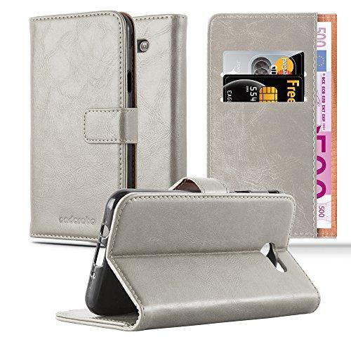Preisvergleich Produktbild Cadorabo Hülle für Samsung Galaxy J5 2017 US Version in Cappuccino BRAUN Handyhülle mit Magnetverschluss,  Standfunktion und Kartenfach Case Cover Schutzhülle Etui Tasche Book Klapp Style