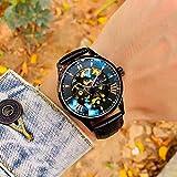ASBIAOReloj Reloj mecánico automático para Hombres Nuevo Hueco Luminoso Impermeable Estudiantes universitarios Versión Coreana de la Tendencia de los Deportes Relojes para Hombres Concha Dorada Bla
