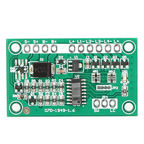 Placa de circuito de control de lámpara, luz estroboscópica de advertencia Placa de circuito de semáforo solar de bajo consumo de energía para lámpara de césped para semáforo