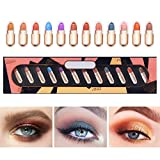 Sombra de Ojos Stick, Lápiz de Sombra de Ojos, Eyeshadow Pen, 12 colores brillo sombra de ojos,...
