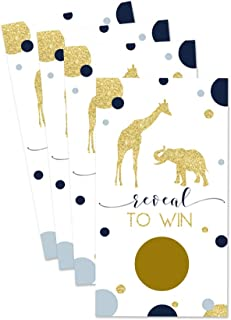 Shimmer Jungle Scratch Off Game (28 Pack of Cards) Boys Baby Shower, Safari Party, Raffles