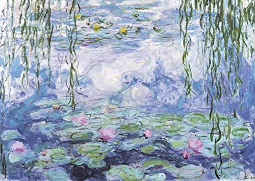 CHengQiSM Puzzle 1000 Pezzi, Puzzle per Adulti Jigsaw Puzzle per Ninfee di Claude Monet Puzzle di Cartone-Relax Puzzle Giochi-rompicapo Alta Definizione Puzzle per Bambini e Adulti Regali (70x50 cm)