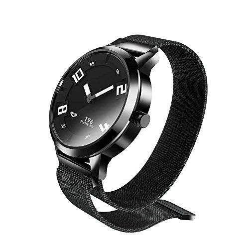 Docooler Lenovo Watch X Reloj Inteligente 80ATM Luminoso Puntero a Prueba de Movimiento de Movimiento del Sueño Monitorización de la Frecuencia Cardíaca Caloría Calorías Alarma Pedómetro Inteligente