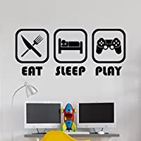 Eat Sleep Play Habitación de los niños Etiqueta de La Pared Mural Vinyl Decal...