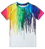 RAISEVERN Camisetas Lindas para niños, niñas, 3D, Manga Corta Impresa Divertida 9-12 años