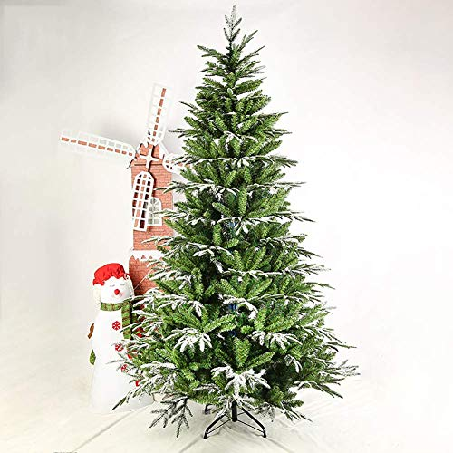 ZYQHJKLHK Árbol de Navidad Artificial con Efecto Nieve, 6 pies de Abeto...