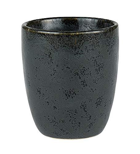 BITZ Espressotasse, Kleiner Kaffeebecher für Espresso, aus Steingut, 10 cl, Schwarz